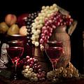 Fruity Wine Still Life Print by Tom Mc Nemar