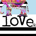 Fun Rock and Roll Elephant Print by Anahi DeCanio