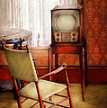 Furniture - Chair - The Invention Of Television  by Mike Savad