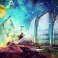 Galileo's Dream - Schooner Art By Sharon Cummings by Sharon Cummings