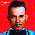 Gangman Style - John Dillinger 13225 - Red - Painterly - With Text by Wingsdomain Art and Photography