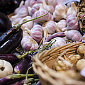 Garlic At The Market by Heather Applegate