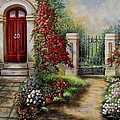 Gate to the hidden Garden  Print by Gina Femrite