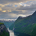 Geirangerfjord Sunset by Benjamin Reed