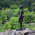General Kemble Warren At Little Round Top by John Greim