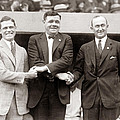 George Sisler Babe Ruth Ty Cobb by Unknown