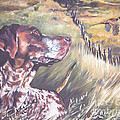 German Shorthaired Pointer And Pheasants by Lee Ann Shepard