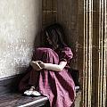 Girl On Pew by Joana Kruse