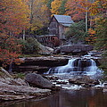 Glade Creek Grist Mill In Autumn by Jetson Nguyen