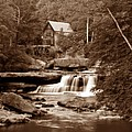 Glade Creek Mill In Sepia by Tom Mc Nemar