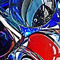 Glass Abstract 507 Print by Sarah Loft