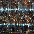 Glasses On A Bar by Leo Sopicki