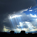 Glider Over Colorado Front Range by Ric Soulen
