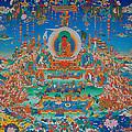 Glorious Sukhavati Realm Of Buddha Amitabha by Art School