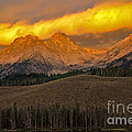 Glowing Sawtooth Mountains by Robert Bales