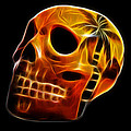Glowing Skull by Shane Bechler