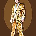 Gold Lamee Elvis by Jarod