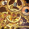 Gold Pocket Watch Gears by Garry Gay