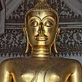 Golden Buddha Temple Statue by Antony McAulay