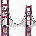 Golden Gate Bridge By Flower Child by Michael Friend