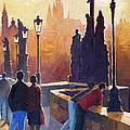 Golden Prague Charles Bridge by Yuriy Shevchuk