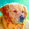 Golden Retriever Art by Iain McDonald
