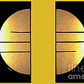 Golden Sun Diptych by Cheryl Young