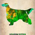 Gordon Setter Poster 2 by Naxart Studio