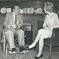 Governor George Wallace Meets Mrs Margeret Thatcher At The by Retro Images Archive