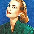 Grace Kelly Painting by Gianfranco Weiss