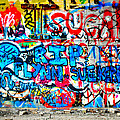 Graffiti Street Print by Bill Cannon