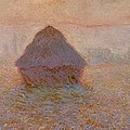 Grainstack  Sun In The Mist by Claude Monet