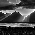 Grand Teton Light Beams by Aidan Moran