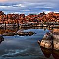 Granite Dells At Watson Lake Arizona 2 by Dave Dilli