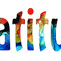 Gratitude 2 - Inspirational Art by Sharon Cummings