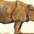 Greated One Horned Rhinoceros by Juan  Bosco