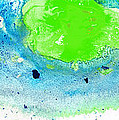 Green Blue Art - Making Waves - By Sharon Cummings by Sharon Cummings