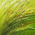 Green Landscape - Abstract Art  by Ismeta Gruenwald