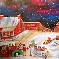 Grey Fox Farm Winter by Michael Litvack