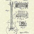 Guitar 1955 Patent Art by Prior Art Design