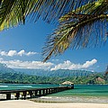 Hanalei Pier And Beach by M Swiet Productions