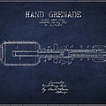 Hand Grenade Patent Drawing From 1916 by Aged Pixel