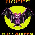 Happy Halloween Bat by Amy Vangsgard