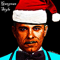 Happy Holidays Gangman Style - John Dillinger 13225 Print by Wingsdomain Art and Photography