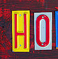 Happy Holidays License Plate Art Letter Sign by Design Turnpike