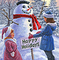 Happy Holidays Print by Richard De Wolfe