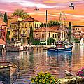Harbour Sunset by Dominic Davison