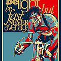 Hard As Nails Vintage Cycling Poster Poster by Sassan Filsoof