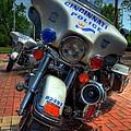 Harleys In Cincinnati 1 by Mel Steinhauer