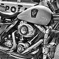 Harleys In Cincinnati 2 Bw by Mel Steinhauer